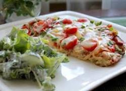 Пицца овощная с морепродуктами