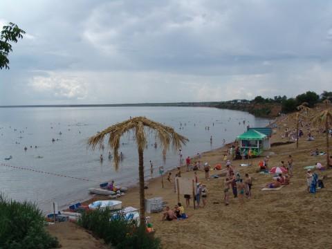 Черноморском побережье Адлера в июне