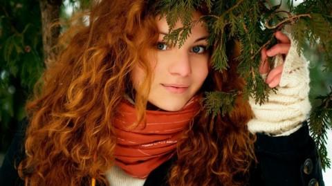 девушка-милая-зимой